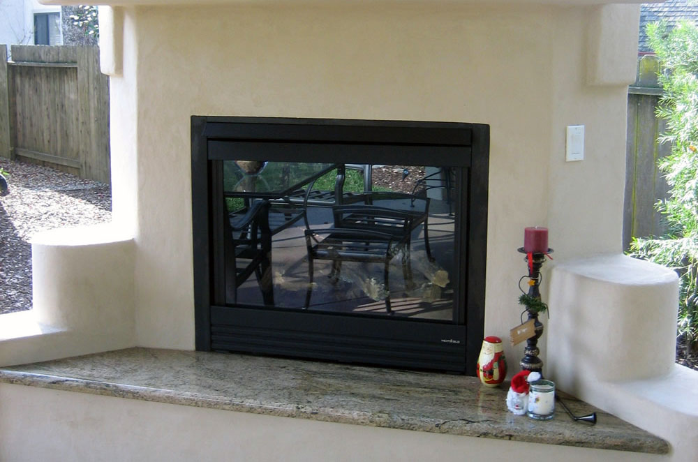 Granite Outdoor Hearth