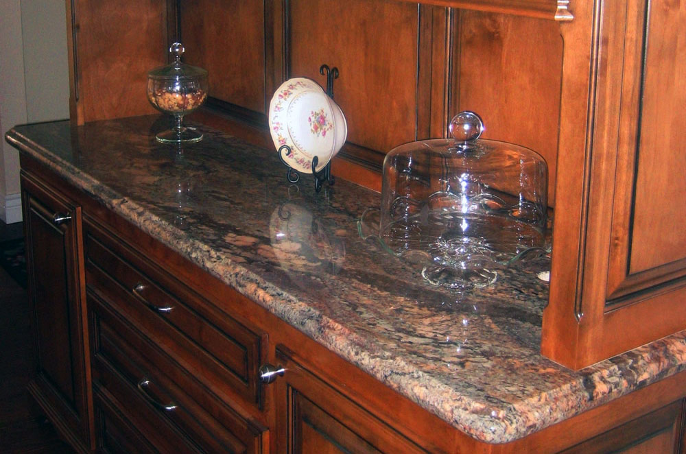 Granite Buffet with Ogee Bullnose Edge