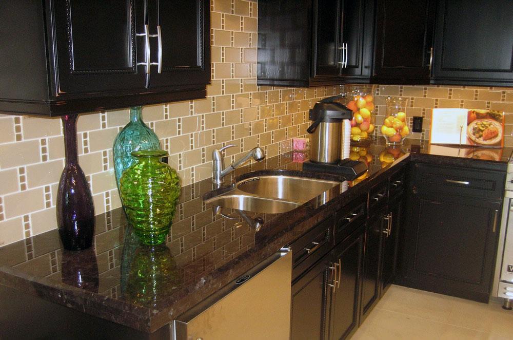 Maroon Cohiba Granite with Undermount Sink & Long Bevel Edge