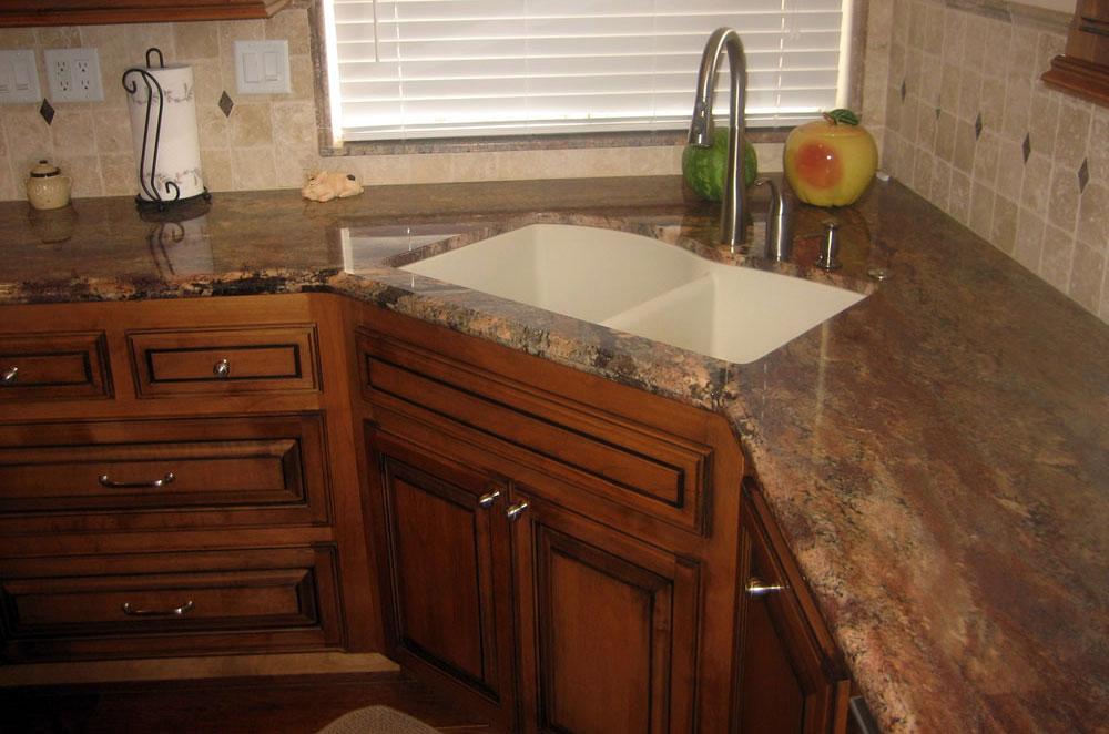Granite Kitchen with Corner Undermount Sink