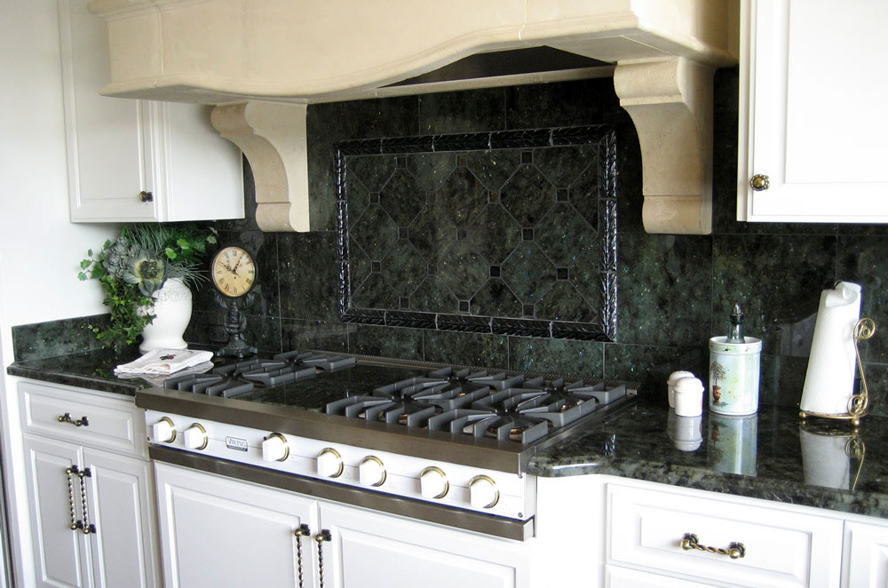 Labrador Azul Granite Kitchen with Ogee Bullnose Edge