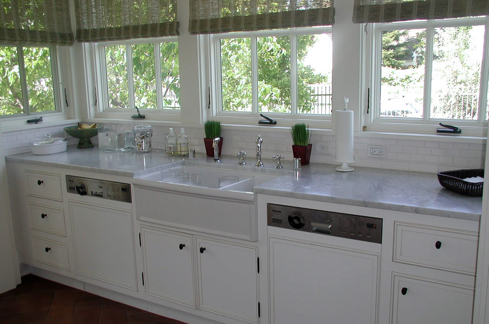 3cm Marble Kitchen with Apron Sink