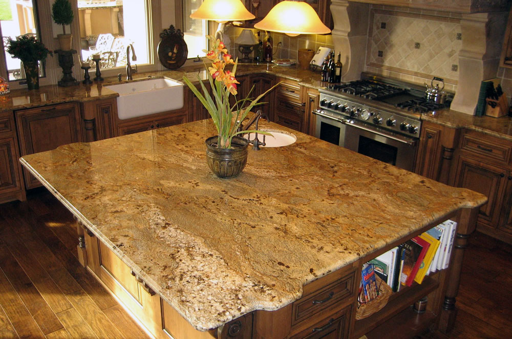 Granite Island with Popouts and Ogee Bullnose Edge
