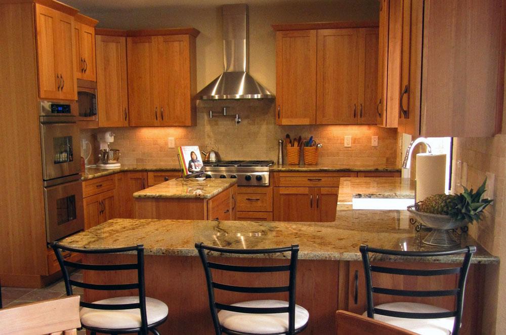 Granite Kitchen with Full Bullnose Edge