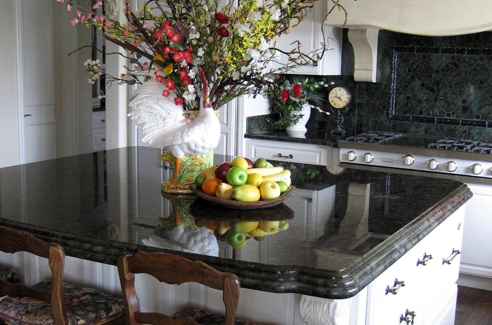Kitchen Island Granite Edges kitchen countertops | stokes granite & stone