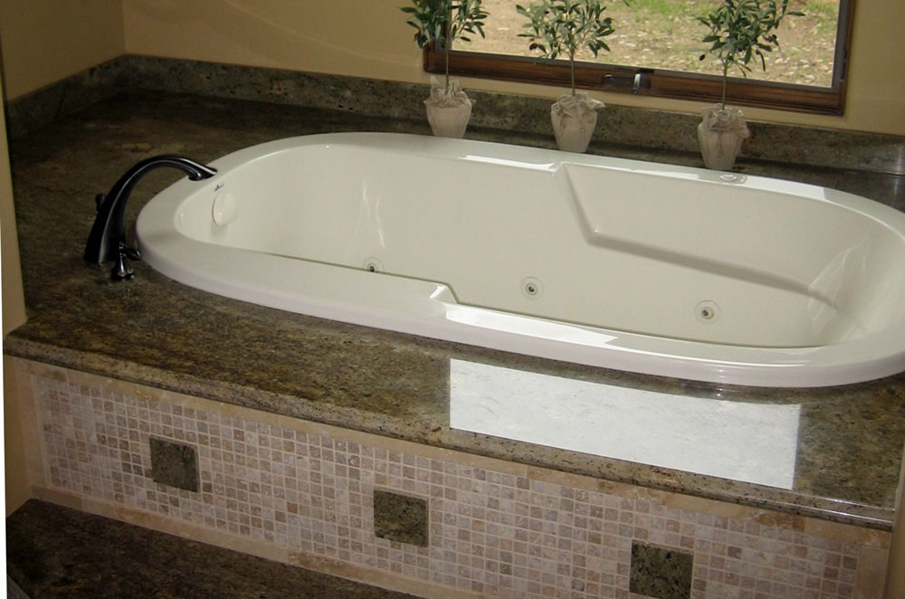 Granite Top Mount Tub with Ogee Bullnose Edge