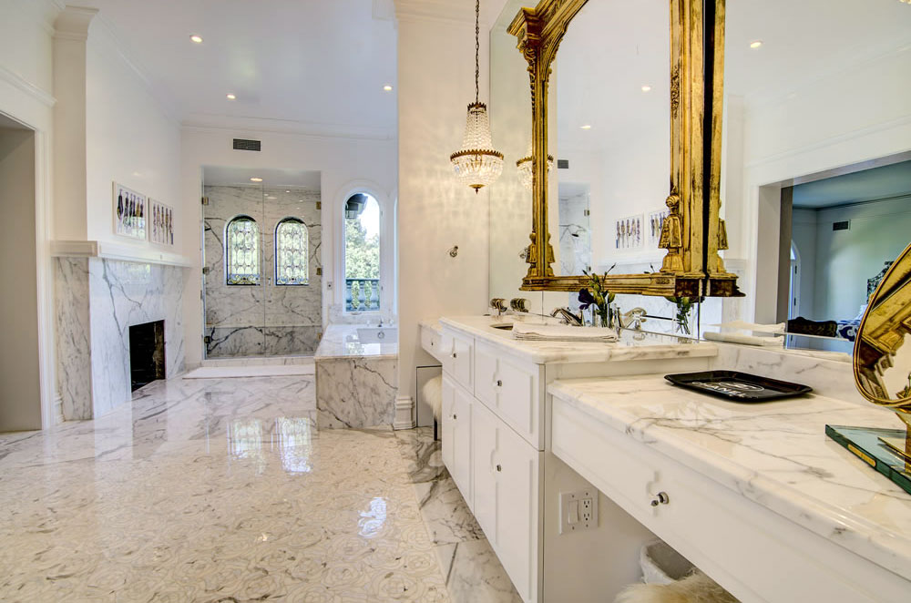 Carrera Marble Master Bathroom