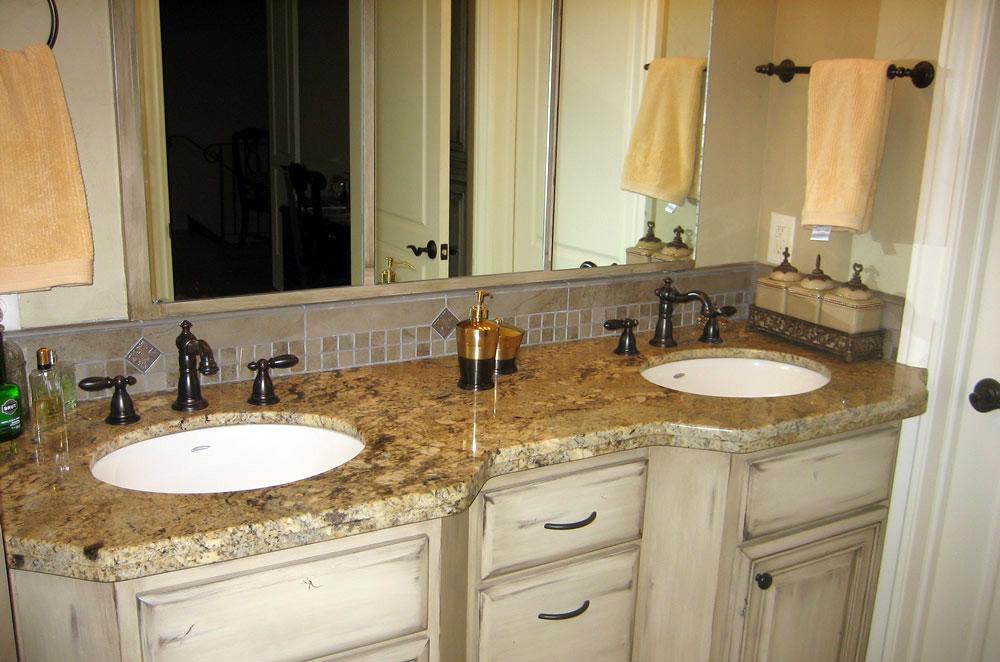 Granite Double Vanity with Double Radius Edge