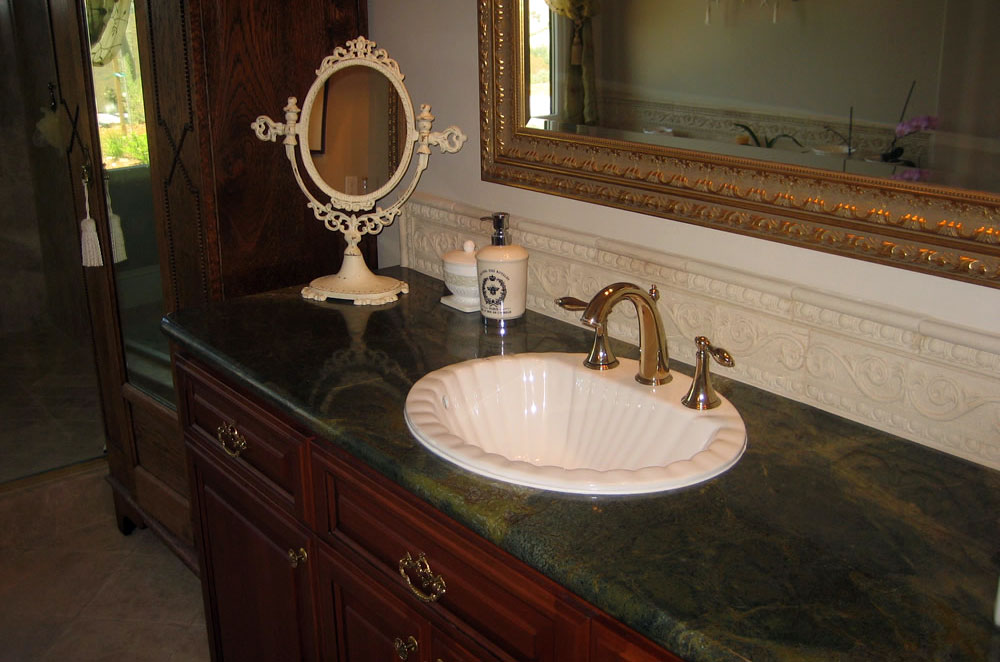 Granite Top Mount Sink With Full Bullnose Edge