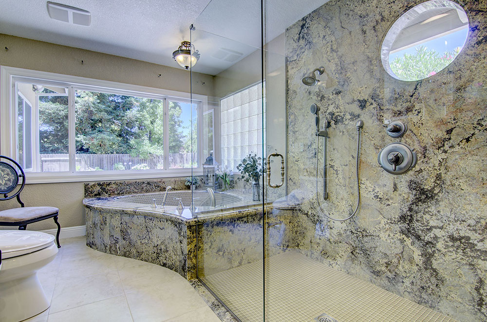 Granite Tub & Shower with Window Inserts