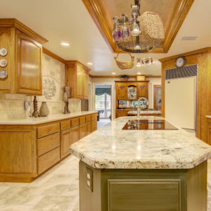 Safari Green Granite & Fairbourne Cambria Quartz Kitchen