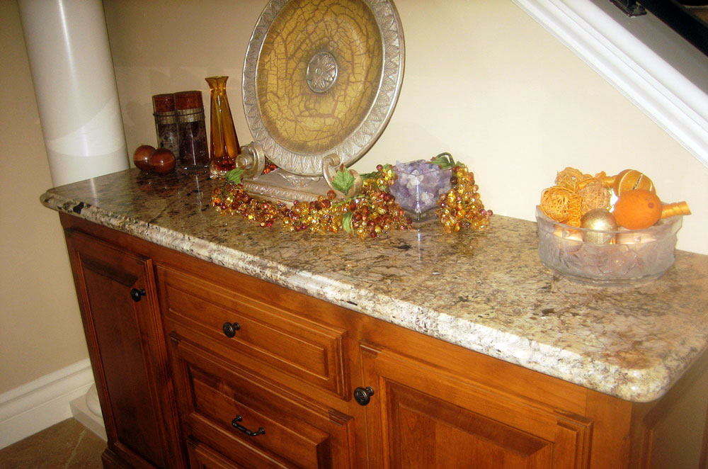 Granite Furniture Top with Ogee Bullnose Edge