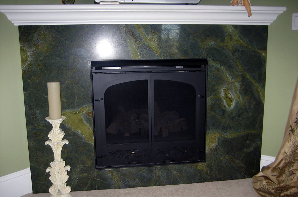 Green Granite Fireplace Surround