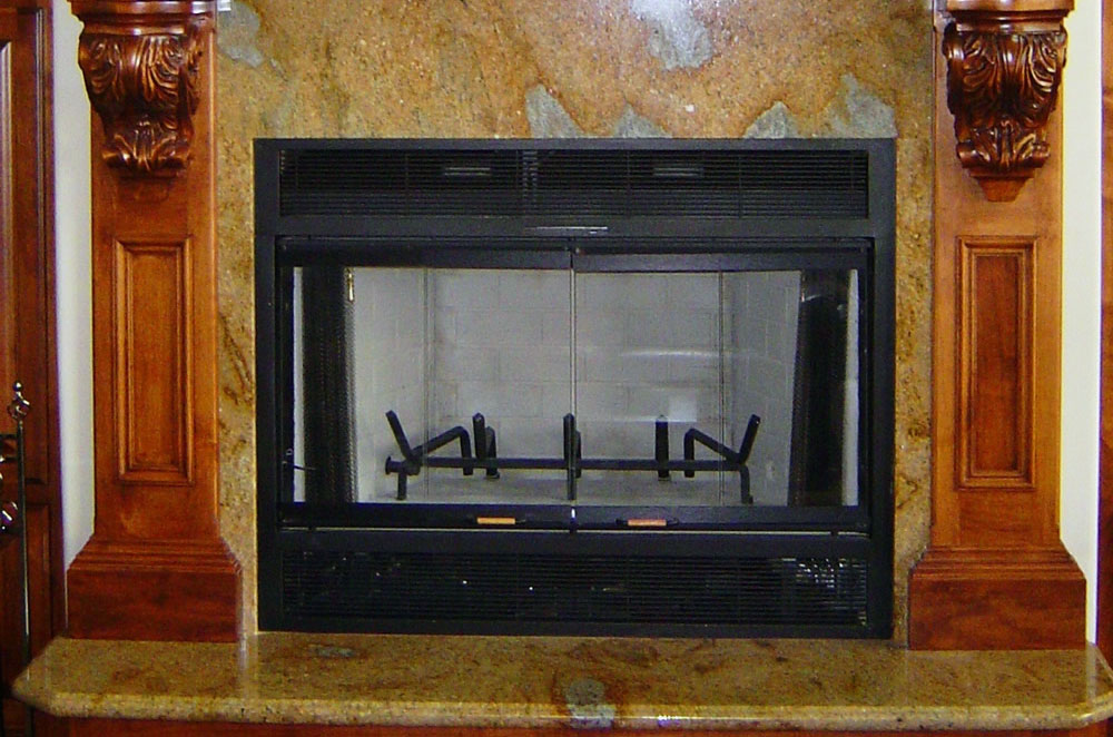 Granite Fireplace Surround and Hearth