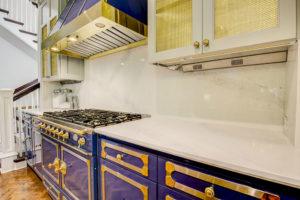 Calcutta Nuvo Ceasarstone Quartz Kitchen Perimeter with Eased Reversed Ogee Edge