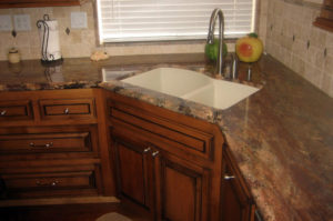 Granite Kitchen with Corner Undermount Sink