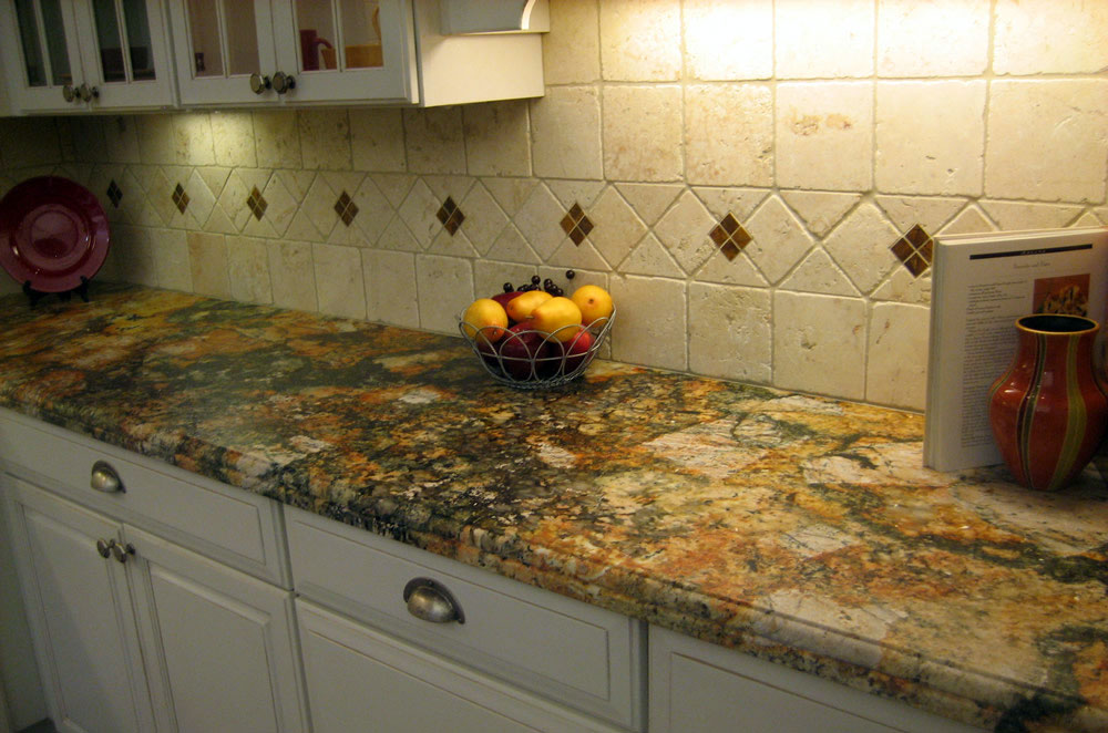 Granite Kitchen Perimeter with Dupont Offset Edge