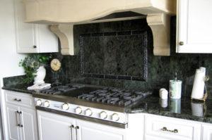 Labrador Azul Granite Kitchen with Ogee Bullnose Edge