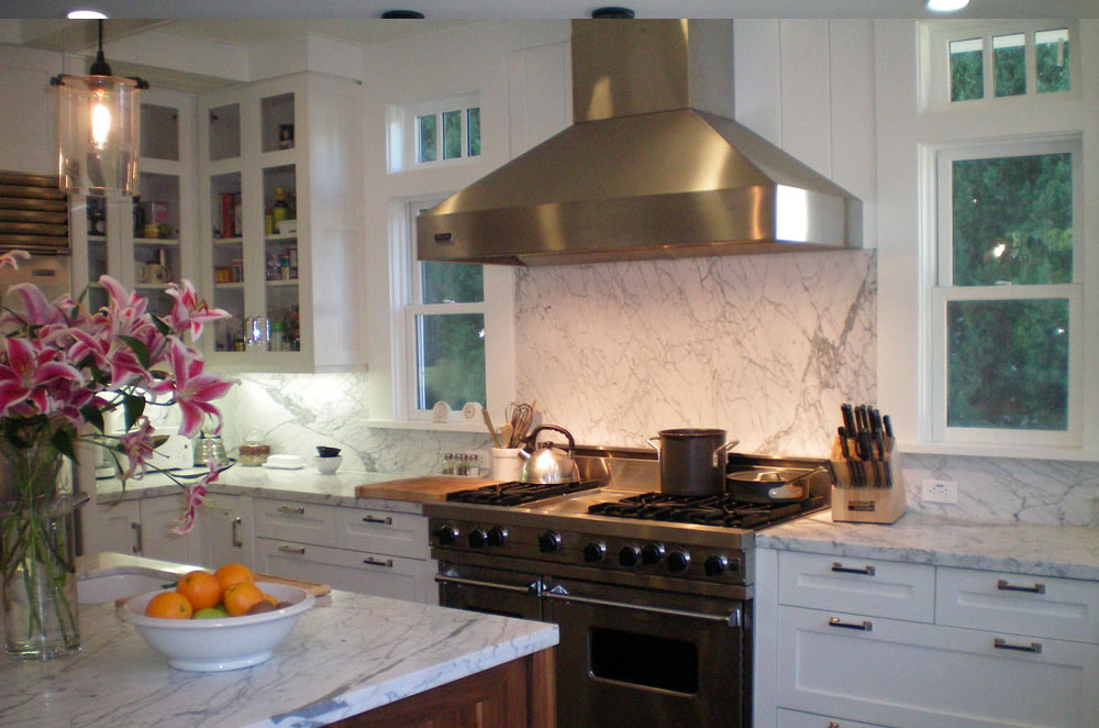 Marble Kitchen with Double Eased Edge