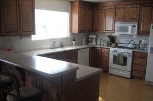 Quartz Kitchen with Full Bullnose Edge
