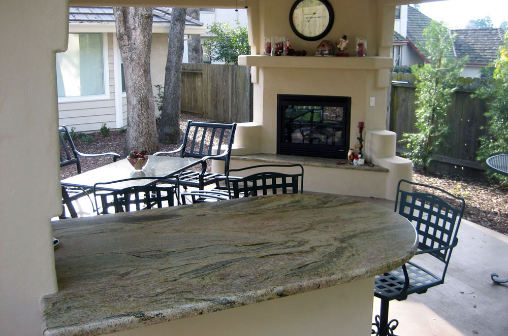 Granite Outdoor Peninsula and Fireplace Hearth