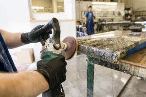 Stone Countertop Hand Detail Polishing