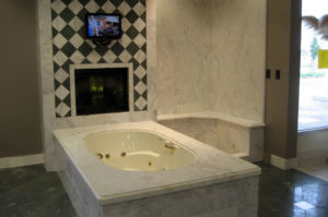 Marble Undermount Tub and Shower