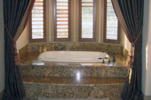 Granite Top Mount Tub and Step