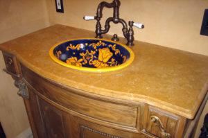 Granite Ogee Eased Top Mount Sink