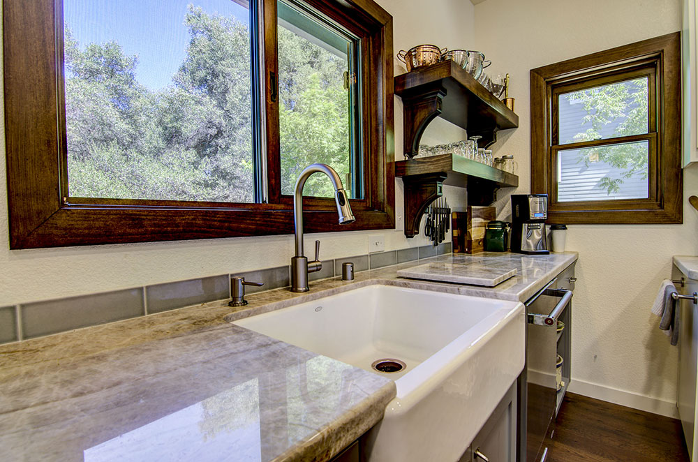 Taj Mahal Quartzite Countertop with Apron Sink