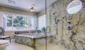 Granite Tub & Shower with Window Inserts