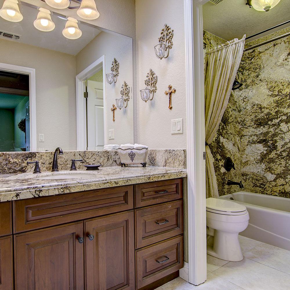 Amaretto Granite Vanity & Shower