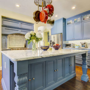 3cm Carrera Marble Kitchen