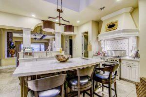 Taj Mahal Quartzite Kitchen with Double Eased Edge