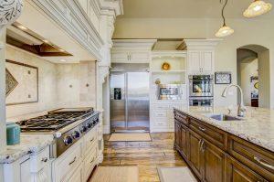 Snowfall Granite Kitchen with Baldwin Edge