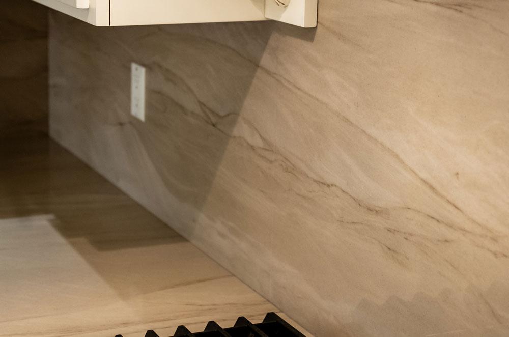 Taj Mahal Quartzite Eased Laminated Edge Woods-Cann Sink